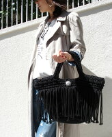 ※送料別※(メール便不可)【マクラメフリンジハンドバッグ】トレンドのフリンジがポイントのハンドバッグ。ホワイトカラーで使いやすくおすすめ♪レディースマクラメバッグ