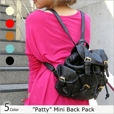 """再再再再再再再入荷!【""""Patty""""(パティー) ブロガー風ミニリュックサック】(メール便不可)..."""
