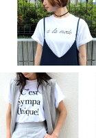 ★タイムセール★\新デザイン3型登場/メール便送料無料(※代引不可)【大人女子のためのロゴTシャツ】着回しの効くシンプルなホワイトTシャツ♪レディースオシャレTシャツ