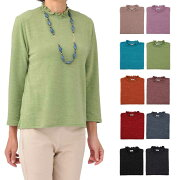 カットソー ストレッチ Tシャツ シャーリング ファッション レディース