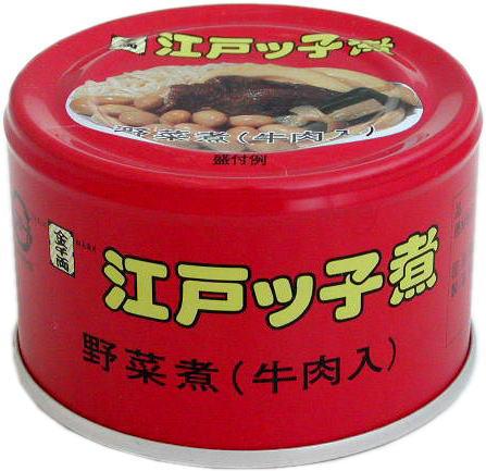 【送料無料】江戸ッ子煮 缶詰ケース売り(24缶入)