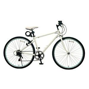 TOP ONE(トップワン):26インチシティクロスバイク シマノ外装6段ギア・カギ・ライト付 ホワイト MCR266-29-WH 【ポイント10倍】ワイヤー錠・ライトを標準装備したシティクロスバイク 4540294012861