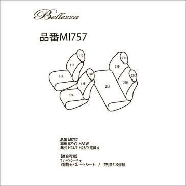 BELLEZZA(ベレッツァ):Wild Stitch ワイルドステッチ シートカバー (ライトグレー×ホワイト)