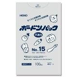 シモジマ:HEIKO ポリ袋 ボードンパック 4つ穴ありタイプ 厚み0.02mm No.15 100枚 006763315