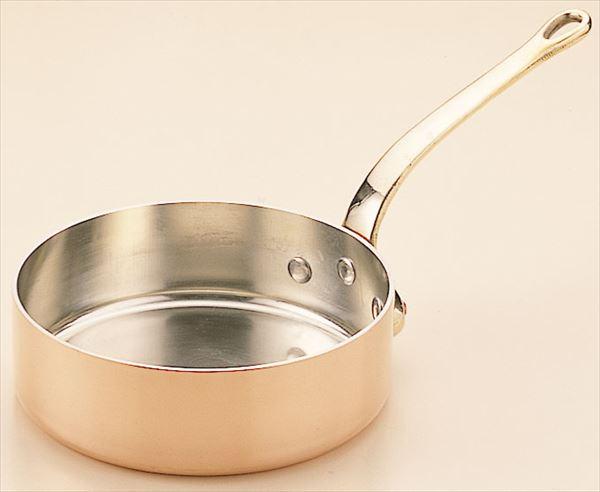SW和田助:銅極厚 浅型片手鍋(真鍮柄) 27cm:イチネンネット