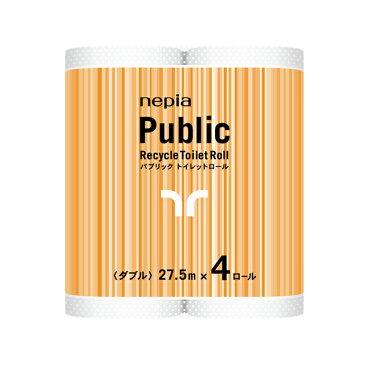 【代引不可】王子ネピア:ネピア パブリックGS ダブル 27.5m 4ロール×24パック×10ケース 業務用品 73591