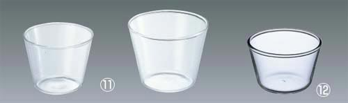 100 ml (11 photograph left) of pudding cup KBT904 made by heat-resisting glass