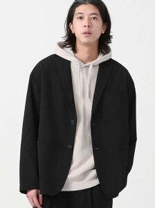 [Rakuten Fashion]【WEB限定】COOLFIBER(R)ルーズシルエットテーラードジャケット(セットアップ対応)# coen コーエン コート/ジャケット テーラードジャケット ブラック グレー【送料無料】