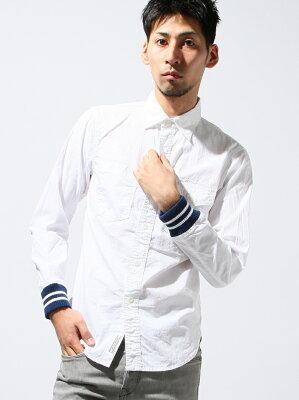 coen レディース シャツ・ブラウス コーエンcoen 【MBC】リブストライプシャツ コーエン
