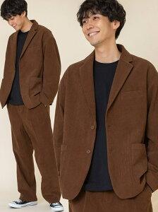[Rakuten Fashion]【WEB限定】ルーズシルエットコーデュロイセットアップ# coen コーエン コート/ジャケット テーラードジャケット ブラウン ネイビー【先行予約】*【送料無料】