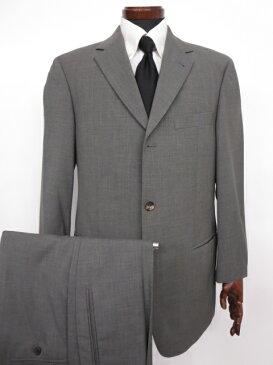 【ヒューゴボス HUGO BOSS】 Super120's チェルッティ生地 織柄 ウール シングル スーツ (メンズ) size48 グレー ◇MS2511◇【中古】