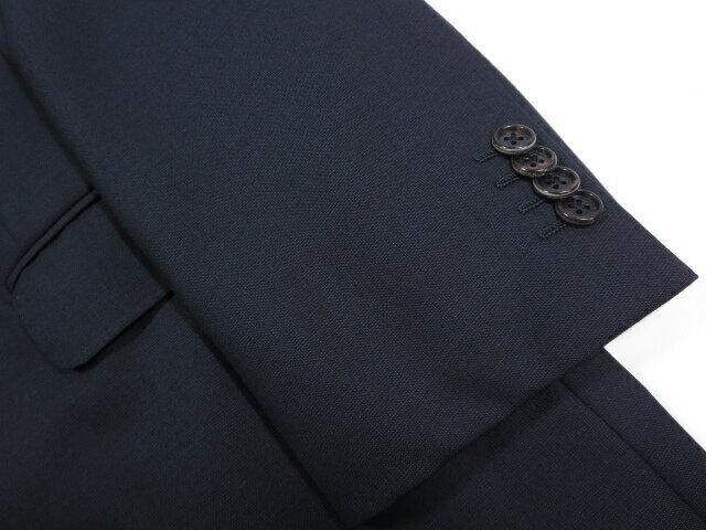 超美品 【エルメネジルドゼニア Ermenegildo Zegna】 15Milmil Super170's 織柄 シングル スーツ (メンズ) ネイビー size54 ◇MS2561◇
