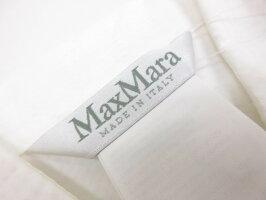 未使用【マックスマーラMaxMara】リネン混シャツブルゾン(レディース)size38ホワイト系11-11-11162◎5LK1583◎【中古】
