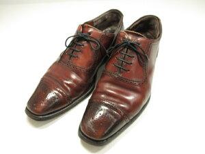 訳あり 【チーニー CHEANEY トゥモローランド別注】 セミブローグ ドレスシューズ 革靴 (メンズ) ブラウン UK6.5相当 紳士靴  ●MZ5584● 【中古】