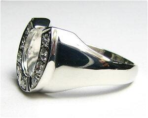 ダイヤの馬蹄リングPTメンズサイズ