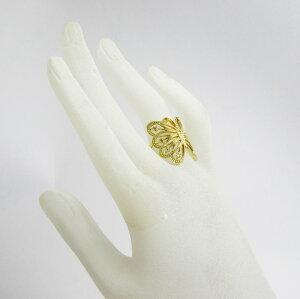透かし模様薔薇ダイヤリング・幅広K18WG・PG・YG