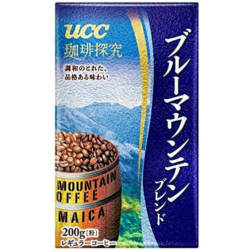 UCC 珈琲探究 ブルーマウンテンブレンド 真空パック 200g レギュラーコーヒー(粉)