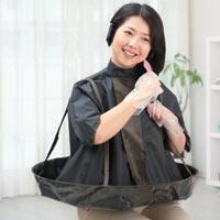 毛染め時の液だれを防ぐ!使わないときは収納ポーチへ!◆床や服の汚れ知らず!着脱らくらく!...