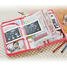 ◆マタニティママの必需品☆赤ちゃんのエコー写真もしまえる!2人分仕分けが出来る母子手帳ケー...