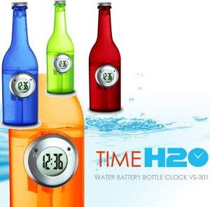 水で動く省エネ時計!VERSOS ベルソス ウォーター バッテリー ボトルクロック TIME H2O VS-301...