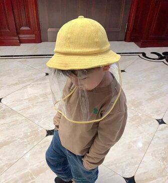 短納期!ハット 飛沫防止マスク 子供用 親子 帽子 UV フェイスカバー つば広ハット コットン 透明タイプ 衛生キャップ 防塵 フェイスカバー 日常帽 男女兼用