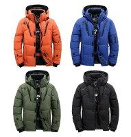 ダウンジャケット メンズ 軽量 ダウンジャケット 冬物 冬服 メンズ アウター ダウン 大きいサイズ 3L 4L 黒 フード付き ハイネック 防寒