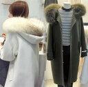 ファーコート チェスターコート 体型カバーできる柔らかコートかわいい ...