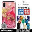 スマホケース 大理石 スライド タフケース   iPhoneケース iPhone8 iPhoneSE 第2世代 iPhoneX ……