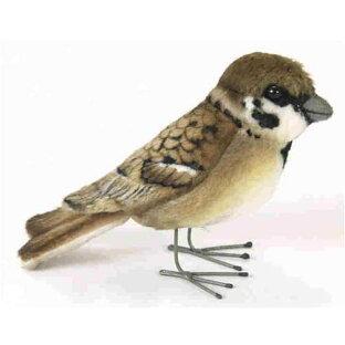 ハンサ【HANSA】ぬいぐるみスズメ10cm すずめ 雀 小鳥の画像