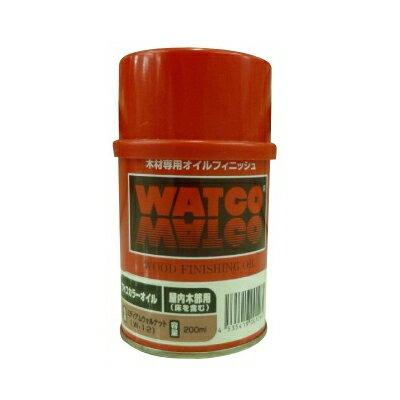 ●☆期間限定☆はけ付き ワトコオイル エボニ— W-10 [200ml] WATOCO・家具・壁面・建具・オイルフィニッシュ