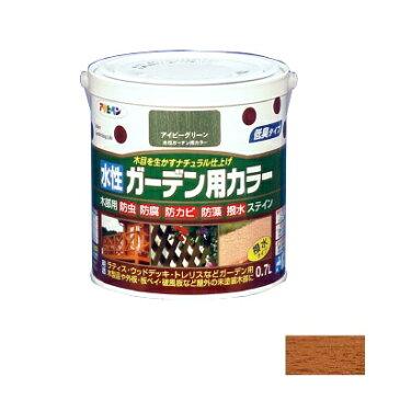 [R] アサヒペン 水性ガーデン用カラー ライトオーク 0.7L [水性木部用塗料]