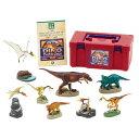 恐竜 フィギュア 白亜紀 恐竜と翼竜 ティラノサウルス他全8体セット 「立体図鑑 ディノボックス VOL.1」 恐竜解説書付 ボックス入り。インテリア 恐竜好きさんへプレゼント クリスマス 誕生日にも