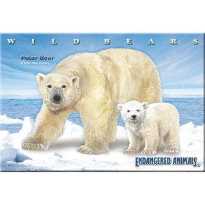 [동물 박물관 직소 퍼즐 북극곰 부모와 자식 엽서 크기 / 130 조각] 생물학 게임 시로 쿠마 북극곰