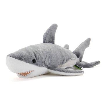 【動物 ぬいぐるみ ホホジロザメ Mサイズ】生物 魚類 サメ 鮫