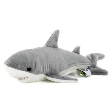 【動物 ぬいぐるみ ホホジロザメ Sサイズ】生物 魚類 サメ 鮫