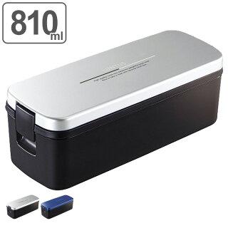 お弁当箱1段メンズランチボックススリム810ml食洗機対応電子レンジ対応箸付バッグ付き