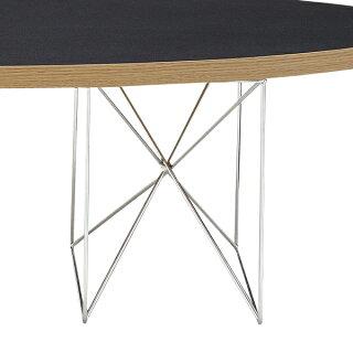ローテーブルオーバル型スチール脚エリプス幅135cm