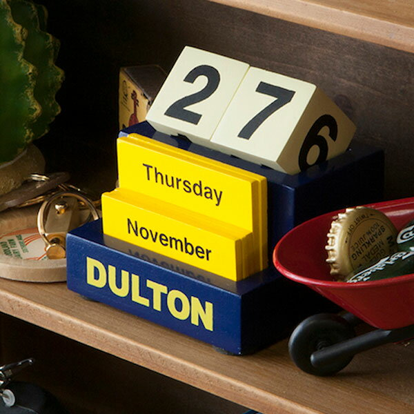卓上カレンダー ダルトン DULTON デスクトップカレンダー ( カレンダー 木製 文房具 文具 おしゃれ オシャレ 木 万年カレンダー )【4500円以上送料無料】