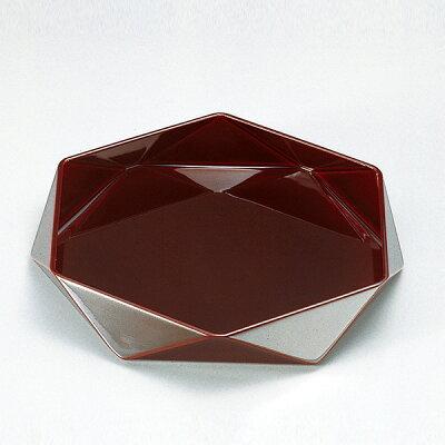盛器 木製 8寸 ダイヤ鉢 溜漆塗 漆塗 盛皿 越前漆器