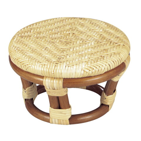 籐 正座椅子 丸型 ラタン製 SZ202A 直径22.5cm ( ラタン家具 アジアン家具 座椅子 座いす 椅子 イス いす ラタン アジアン リゾート クッション 正座いす 円 丸 送料無料 ) 【3980円以上送料無料】
