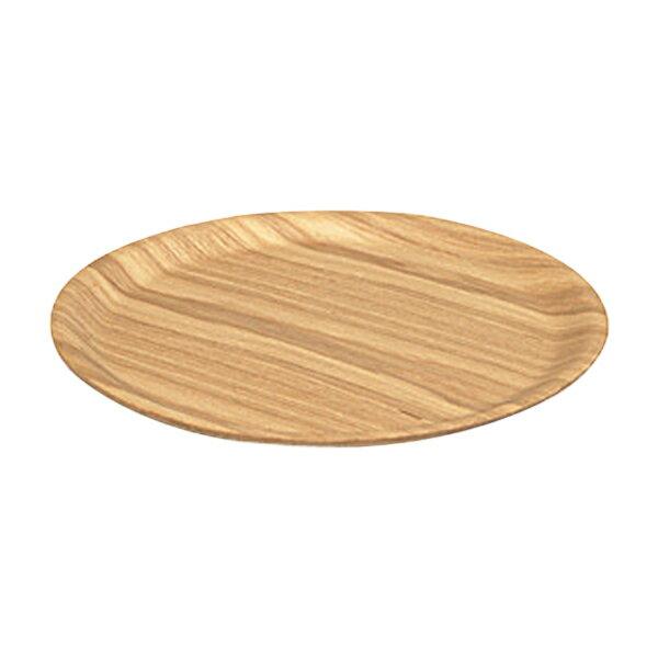 キントーKINTOトレイノンスリップ38cmLウィロー(丸型トレー滑らない木製お盆おしゃれ盆丸ラウンド滑り止めすべり止めカフェ木
