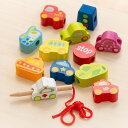 ひも通し 木製 ビーズ トラフィック 車 おもちゃ 知育玩具 Classic クラシック ( 紐通し 玩具 木のおもちゃ 乗り物 幼児 紐 通す ビーズ遊び 木 18ヶ月 1歳半 おしゃれ )【3980円以上送料無料】