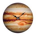 掛け時計 置き時計 卓上ガラス時計 ROUND 17cm Jupite...