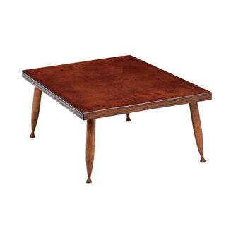 座卓ねじ込み脚ローテーブル木製マジカル正方形80cm角型