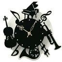 壁掛け時計 時計 楽器 ( 壁掛け ウォールクロック 電池式...