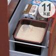 米びつ ライスボックス システムキッチン用 10kg対応タイプ 黒色 ( ライスストッカー 米櫃 保存 保管 シンク 流し下 米 キッチン 引き出し 収納 11kg こめびつ ) 【3900円以上送料無料】