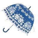 傘 ハッピークリアドームアンブレラ ハワイアン 花柄 ビニー