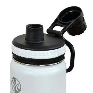 水筒サーモフラスクステンレス二重構造保冷直飲み400mlハンドル付き