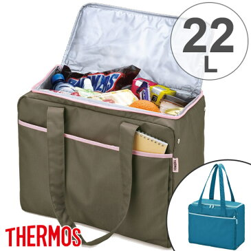 保冷ショッピングバッグ サーモス(thermos) 22L RED-022 クーラーボックス ( 保冷バッグ エコバッグ 大容量 折りたたみ コンパクト ペットボトル アウトドア クーラーバッグ ソフトクーラー ) 【4500円以上送料無料】