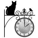 ウォールクロックステッカー ウォールステッカー 時計 猫 まちねこ Wall Clock St...